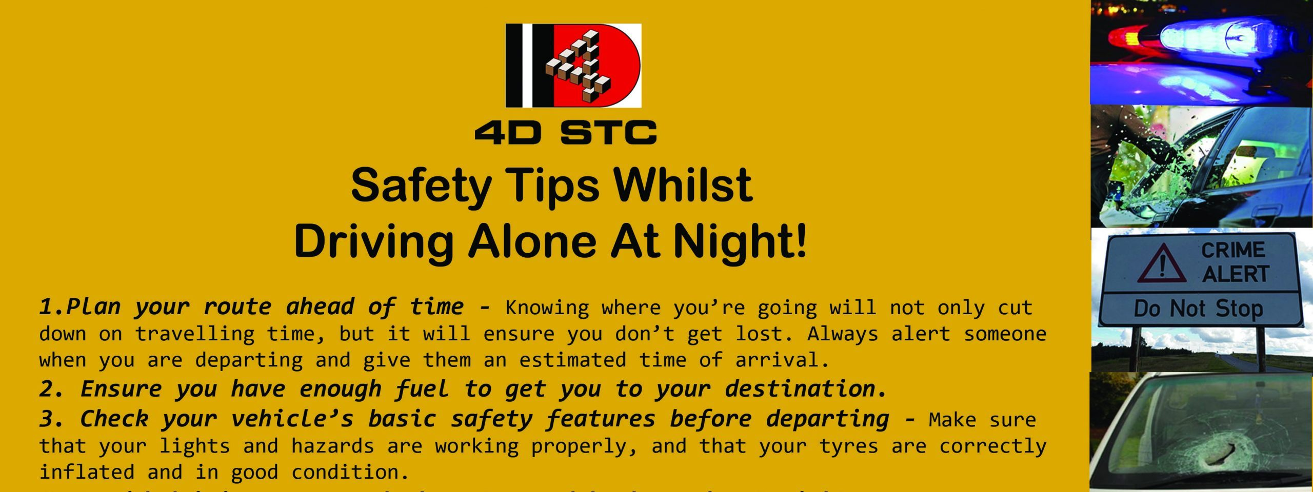 Safety Tips Whilst Driving Alone At Night