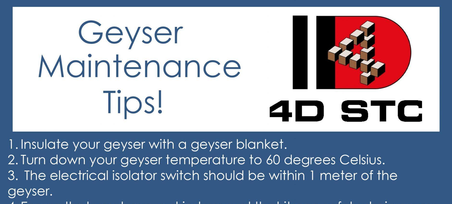 Geyser Maintenance Tips